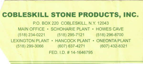 Cobleskill Stone Products
